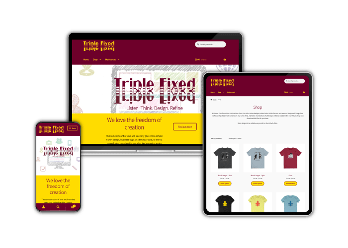 Triple Fixed website images